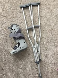 Crutches and air cast
