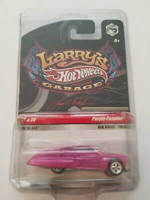 2009 HOT WHEELS LARRY'S GARAGE PURPLE PASSION MINT IN PROTECTO PAK