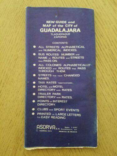 1973 Asorva Guadalajara Tlaquepaque Zapopan Mexico City Highway Road Map Guide
