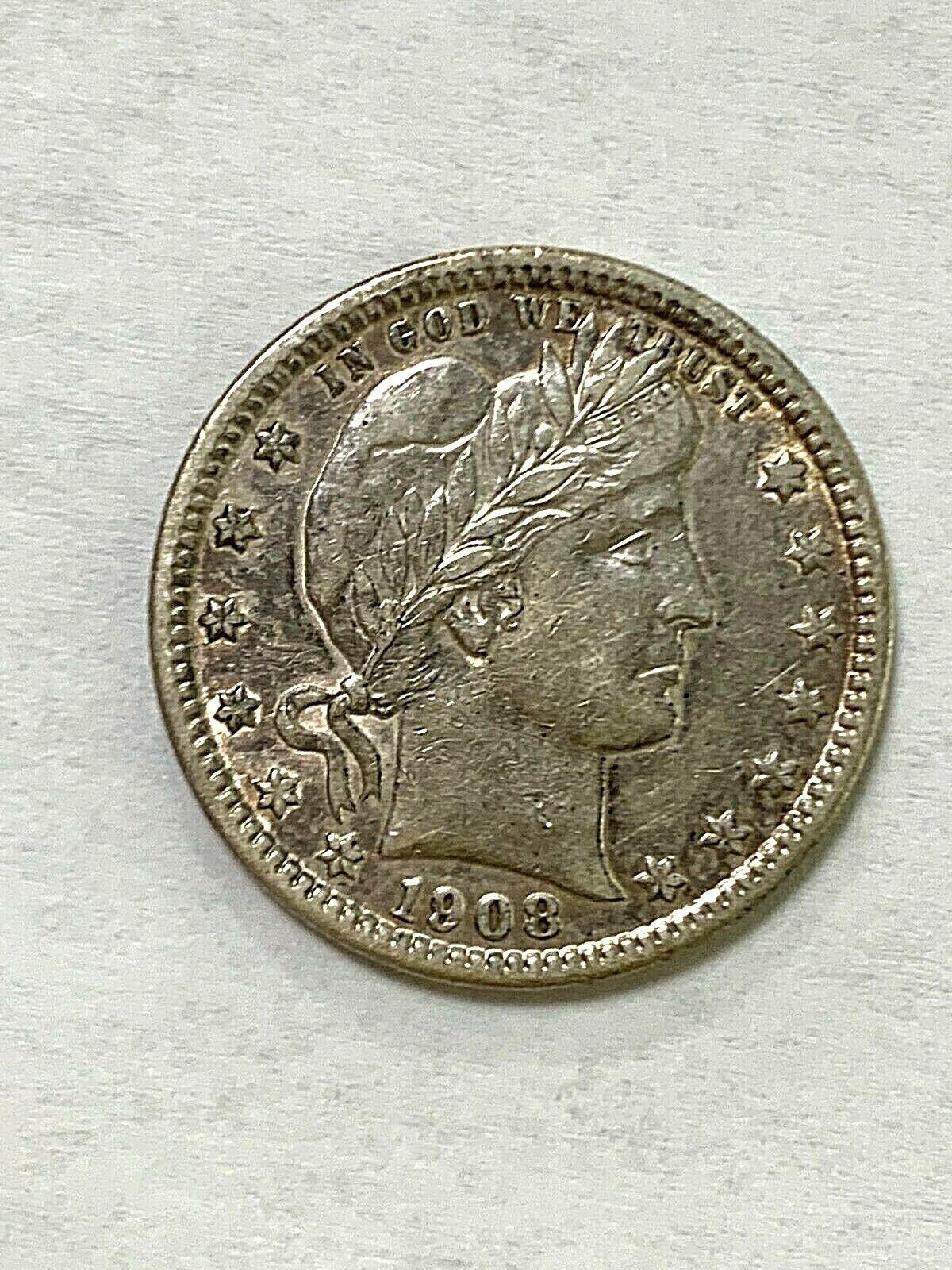 1908-D Barber Quarter  - $69.99