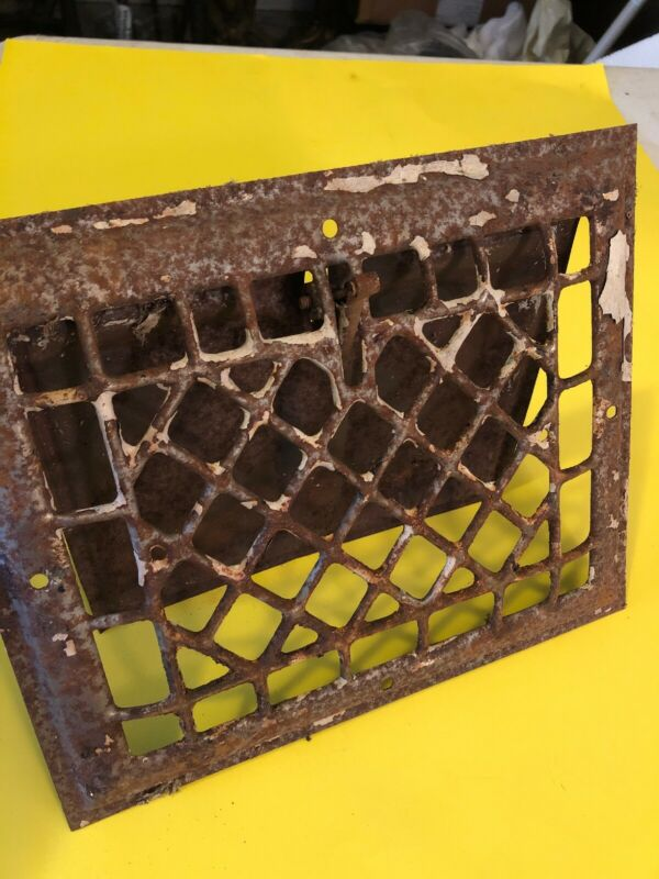 Jan 2020 Antique Sheet Metal Wall Heating Grate With Flapper