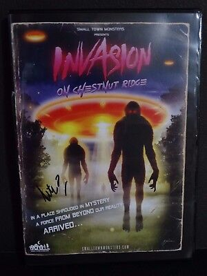 Invasion On Chestnut Ridge Signed DVD Documentary UFO Bigfoot Small Town Monster for sale  North Lawrence