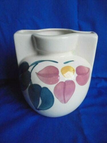 Vintage Purinton Pottery Art Deco Hand Painted Flower Vase