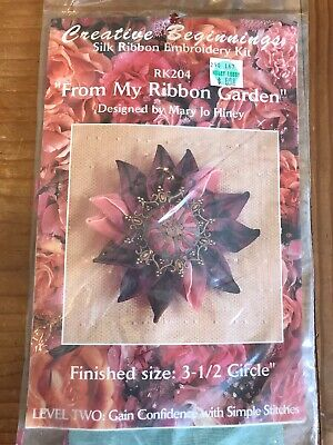 "CREATIVE BEGINNINGS~SILK RIBBON EMBROIDERY/""SEND ME AN ANGEL/"" KIT #RK102~NIP"
