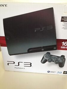 PS3 slim with 4 games, cont and box BEST OFFER WANT GONE ASAP
