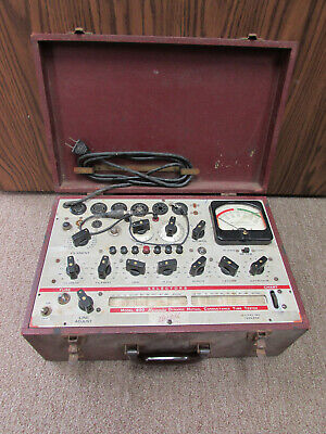 Hickok Model 600 Vacuum Tube Tester Non-working For Parts Or Repair