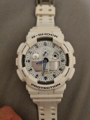 Casio G-Shock GA-100A Watch, White/Purple