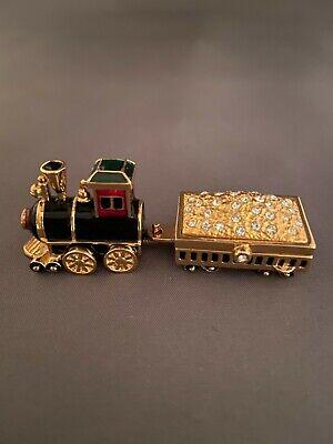 ESTEE LAUDER LOCOMOTIVE TRAIN & GOLD SOLID PERFUME