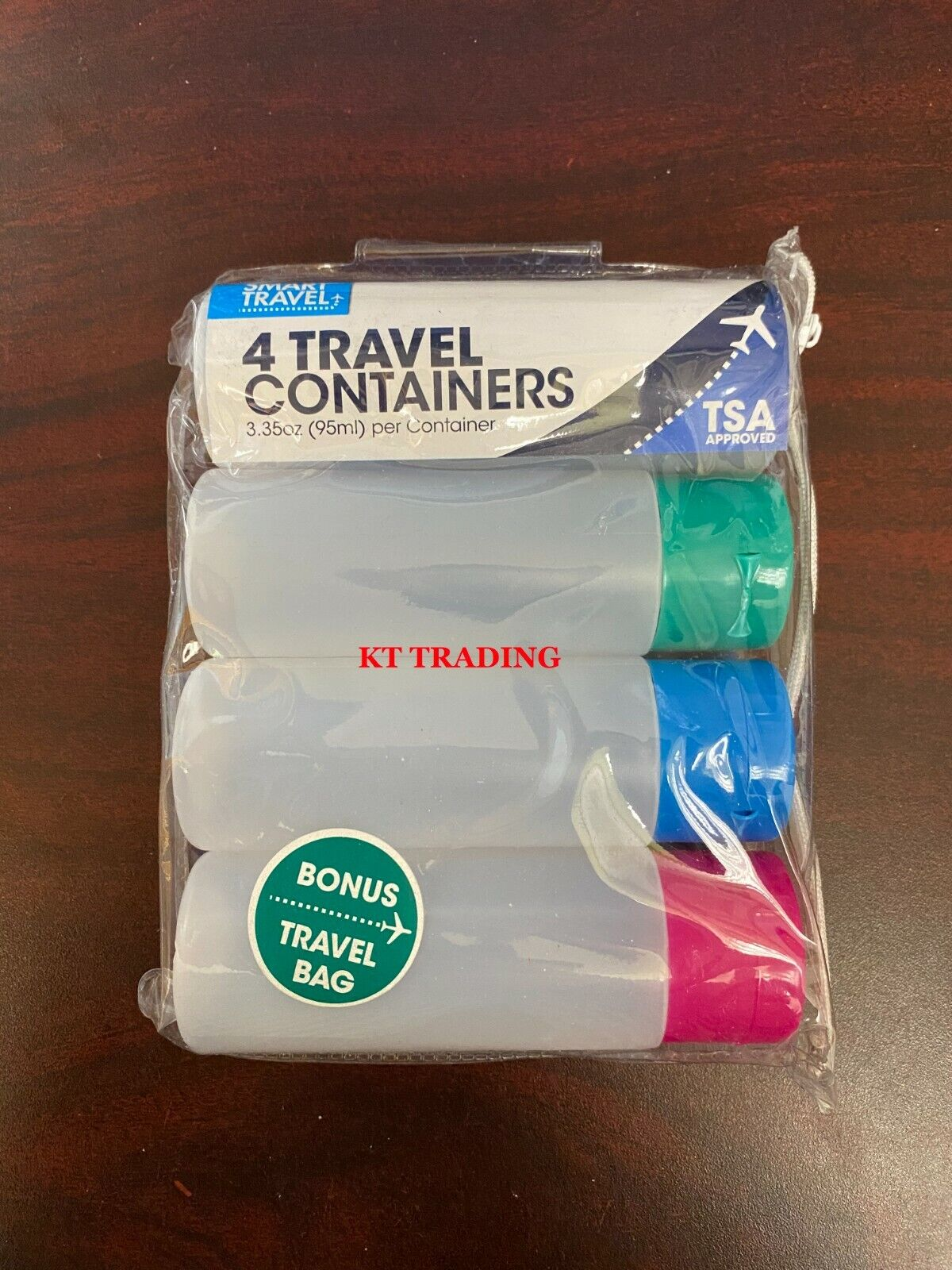 4-Pack TRAVEL CONTAINERS Smart Travel TSA Approved Color Coated TRAVEL BAG - $9.95