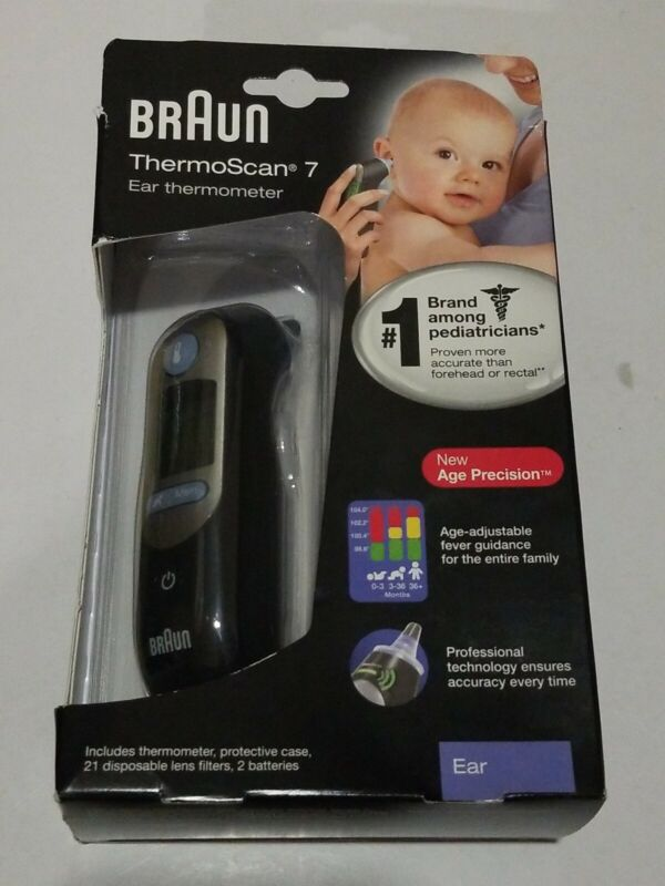 BRAUN ThermoScan 7 Age Precision Digital EAR THERMOMETER for Babies/Kids IRT6520