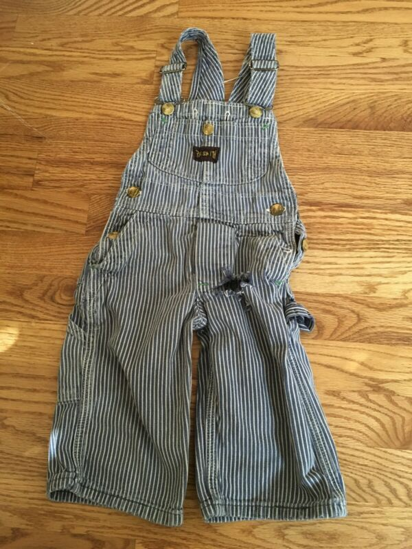 Vintage 1950's Big Smith Hickory Stripe Denim Overalls Sanforized Union Made