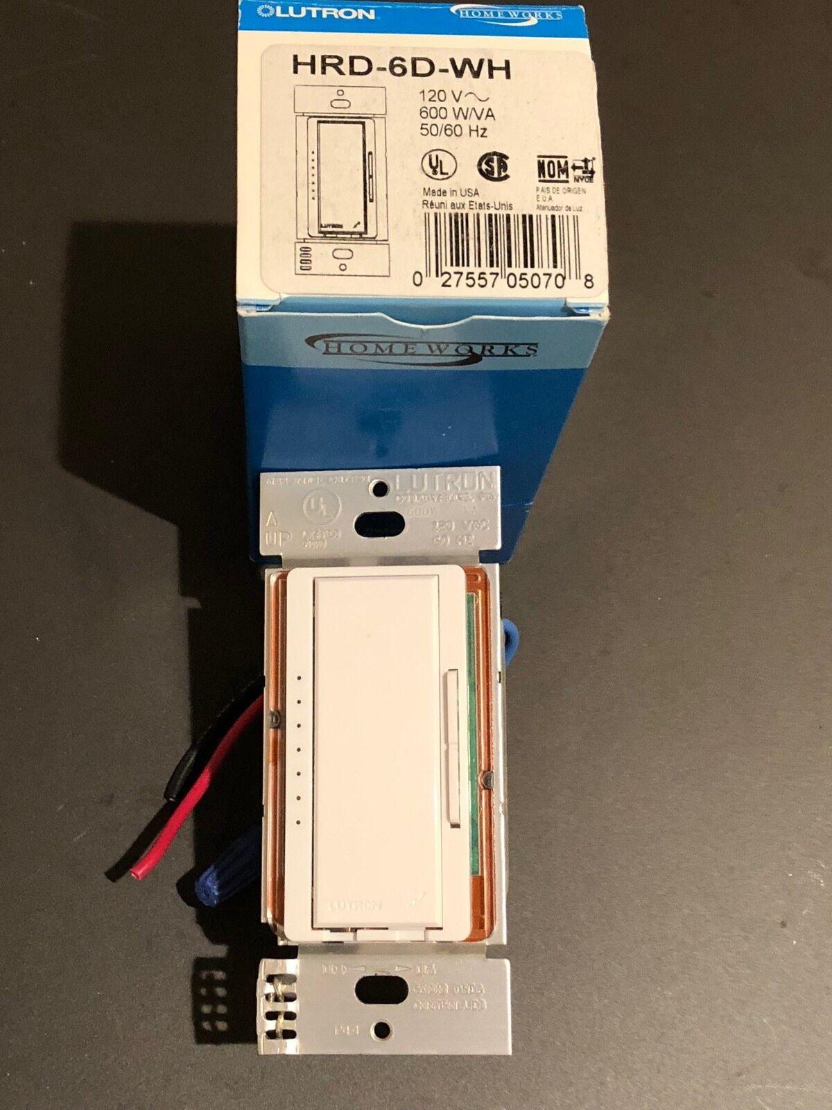 Lutron Homeworks HRD-6D-WH RF Maestro 600 Watt Dimmer (White)