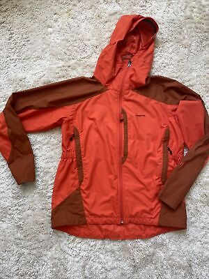 mens patagonia rain jacket orange rust medium
