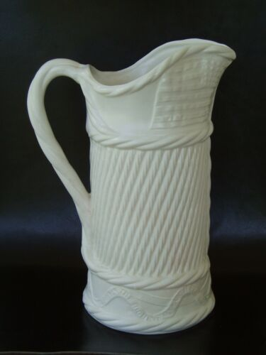 First Atlantic Transatlantic Cable Pitcher Old Staffordshire Porcelains 1858