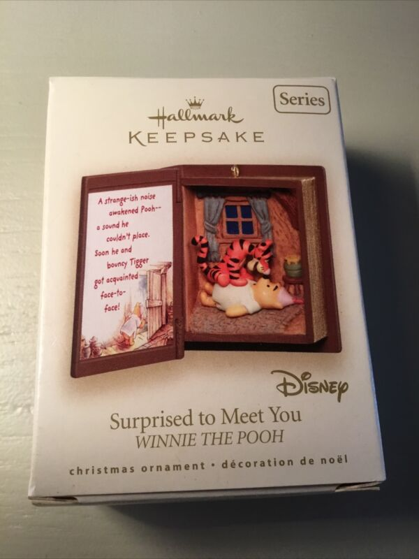 HALLMARK Keepsake Ornament  SURPRISED TO MEET YOU Winnie The Pooh And Tigger