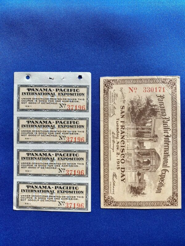 1915 Panama Pacific Admission Tickets