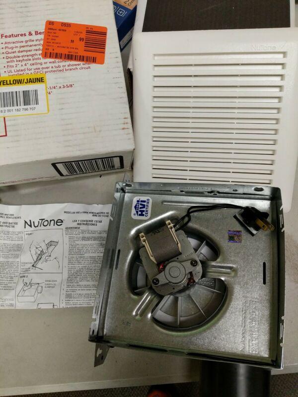 Broan-Nutone 50 CFM Wall/Ceiling Mount Bathroom Exhaust Fan 696N - tested!