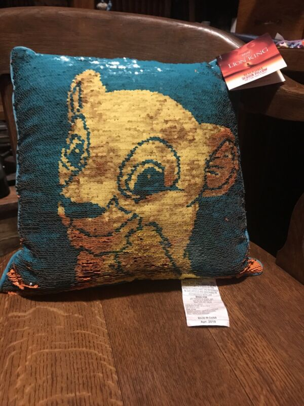 The Lion King Reversible Sequin Pillow New NWT Simba