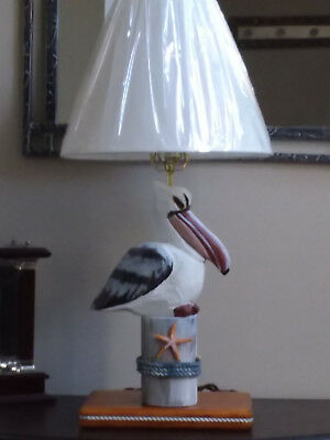 Coastal Pelican Nautical Decor Table Lamp