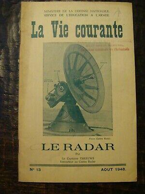 La Vie Courante - Le Radar - 1948 - Ministère de la défense Nationale - Armée