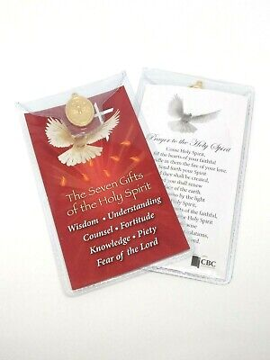 GIFTS OF THE HOLY SPIRIT - PRAYER CARD & MEDAL IN WALLET