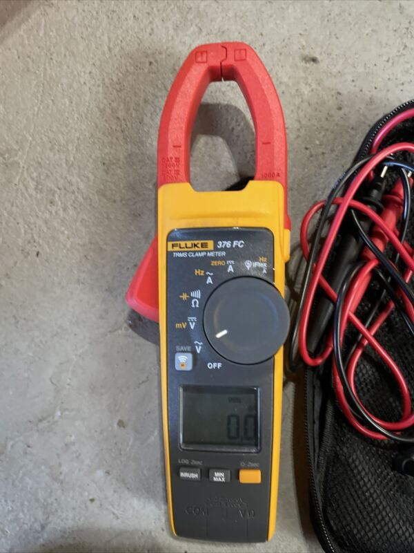 Fluke 376FC TRMS Clamp Meter with iFlex, Leads + Case