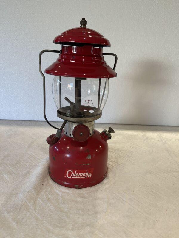 VTG Coleman Lantern Model 200A Red Oct-1962