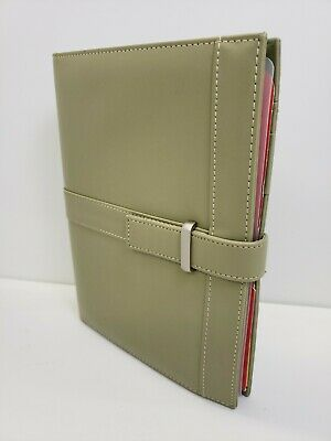 Day Runner Organizer Planner Refillable Olive Green Brushed Nickel Accent 8 X 10