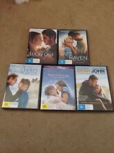 Romantic DVD 5 pack NEW SEALED the Notebook Nicholas Sparks Valentine Lewisham Marrickville Area Preview