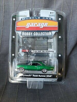 GREENLIGHT MUSCLE GARAGE HOBBY COLLECTION 1970 PLYMOUTH ROAD RUNNER HEMI CHASE