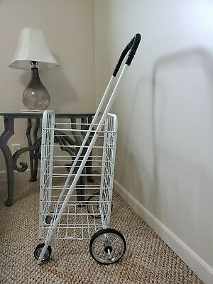Wellmax Wm99024s Grocery Utility Shopping Cart Easily Collapsible And Portable