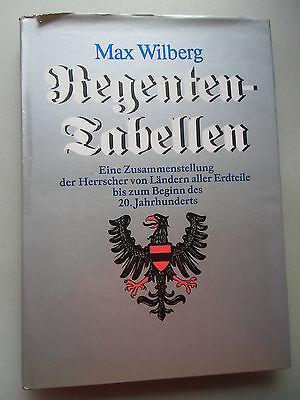 Regenten-Tabellen Zusammenstellung Herrscher von Ländern aller Erdteile 1986