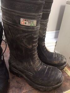CSA steel toe winter and rubber boots