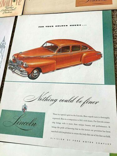 "Original 1931-1960 ""Lincoln Print Ad Lot of 15"" Antique-Vintage"