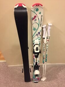 Techno pro Sweety 100 skis w TC45 bindings & poles 80cm / 31""