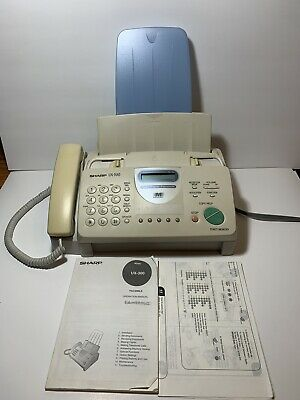 Sharp Plain Paper Facsimile Fax Machine Model Ux-300 Great Condition With Manual