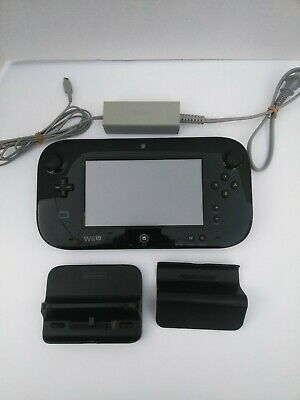 Genuine Nintendo Wii U GamePad Tablet Controller (WUP-010) with accessories