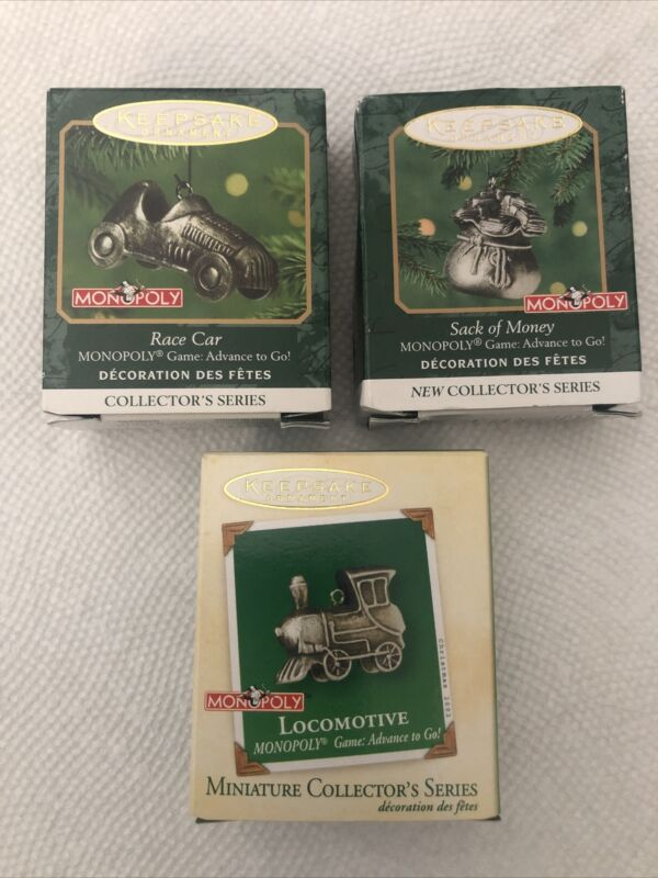 Hallmark Keepsake Collector's Series Miniature Ornaments - MONOPOLY (Set of 3)