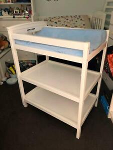 Bebe Care White Timber Nappy Change Table 3 Tier