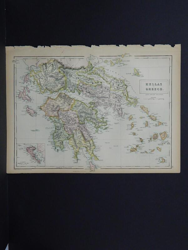 Antique Map, Black