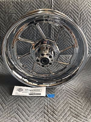 Harley Davidson 18x5.5 VRSC V Rod Road Winder Chrome Rear Wheel 44668-04 for sale  Cedar Falls