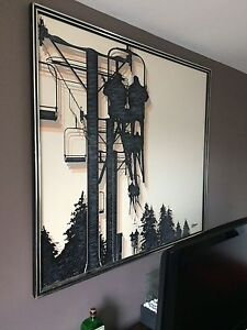 Ski lift painting LARGE
