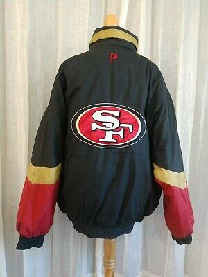 San Francisco 49ers NFL Experience Vintage Reversible Jacket Black & Red XL