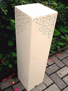 metallo-pilastro-A-80-in-crema-Bianco-colonna-per-piante-fiori