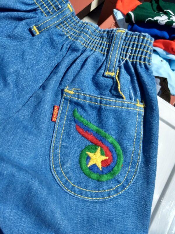 Rare 70s Vintage Little Levi's Denim Button Jeans Toddler Size 3 Levi