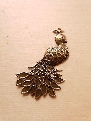 �er Schmuckanhänger Pfau ♥ Vogel Deko Charms Vintage Bronze (Vogel Charms)
