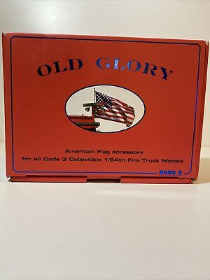 Old Glory American Flag Accessory Code 3 Collectible 1/64th Fire Truck Models