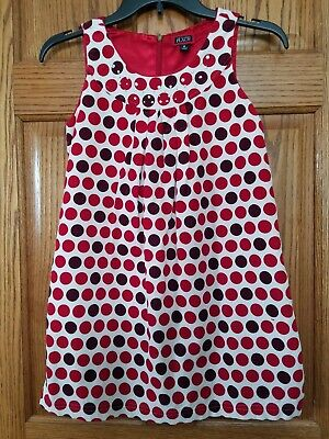 Childrens Place Christmas Holiday Jumper Dress Red/Cream Corduroy Girls Size 10