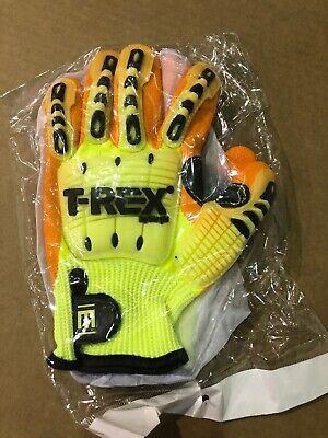 Magid Safety T-rex Impact Gloves Cut Level 4 Yelloworange Trx-540 Medium 1 Pair