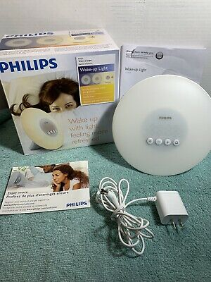 Philips HF3500 - Wake-Up Light Alarm Clock with Sunrise Simulation, White